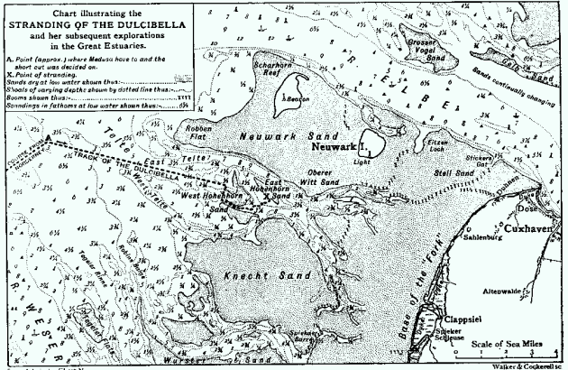 Chart Illustrating Stranding of the Dulcibella