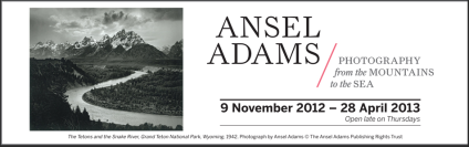 Ansel Adams exhibition banner