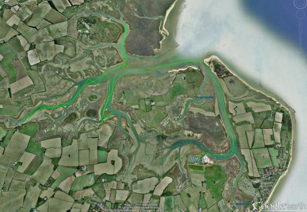 Walton Backwaters 12 July route